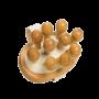 Brosse de massage anticellulite denture de bois