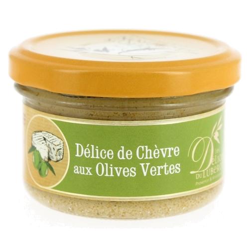 Delice de chevre aux olives vertes